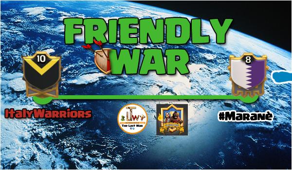 #3 Friendly War: parola ai #Maranè!