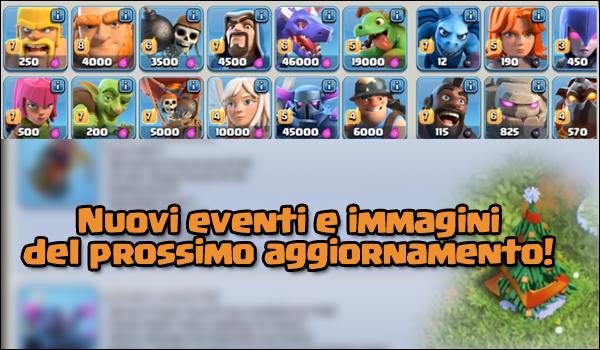 Nuove immagini esclusive di eventi,layout truppe e molto altro! | Clash of Clans| Update Dec2016