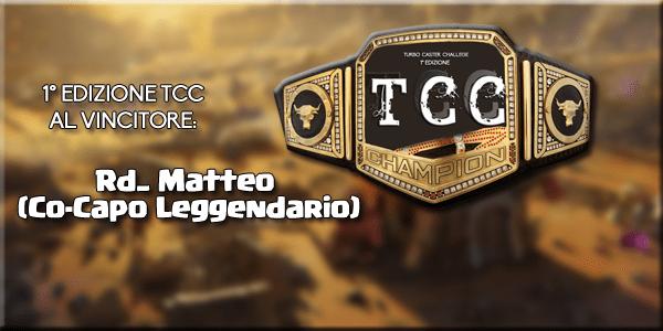 Vince la 1° edizione della TCC il nostro Rd…