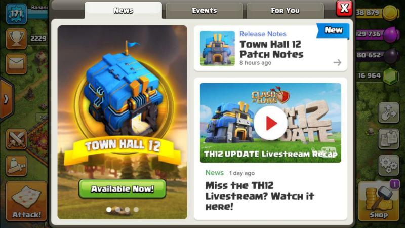 Cosa ne penso dell'update del TH12 su Clash of Clans
