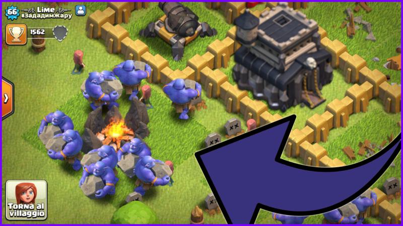 Stranezze su Clash of Clans: il Th9 con i Bocciatori negli accampamenti!