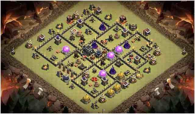 th9 war base june 2018 2 - Layout Basi War per Th9 – Marzo 2019 | Clash of Clans