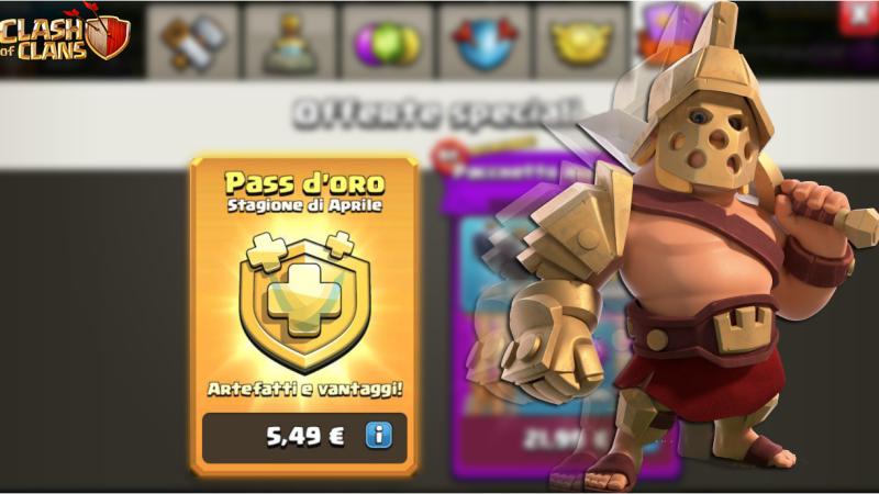 Il Pass Gold ha fruttato 27$ milioni di entrate alla Supercell   Clash of Clans