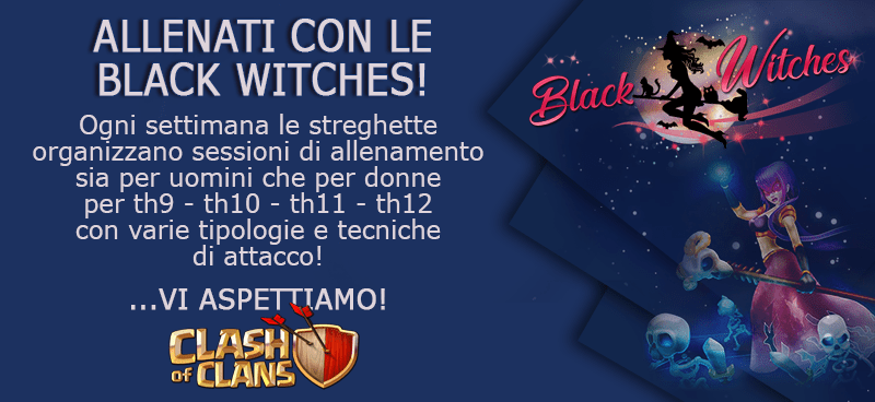 Training con le Black Witches, doppio appuntamento. GoHogs per TH9 e Queen Charge Hogs per TH10