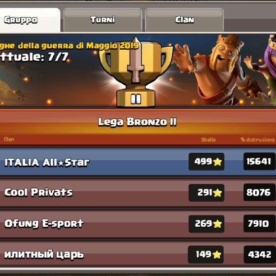 Screenshot 20190509 142519 Clash of Clans - Una Clan War Leagues brillante!