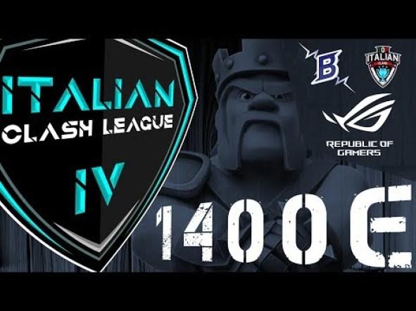 0 2 - ITCL4: sfida i migliori Clan e prova a vincere 1.400€