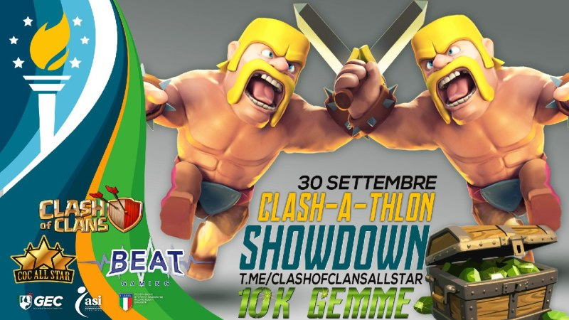 Nuovo Evento Clash of Clans All Star: Clash-a-thlon Showdown!