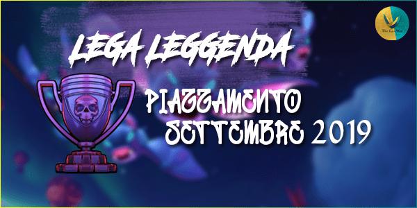 Lega Leggenda: piazzamento Settembre 2019