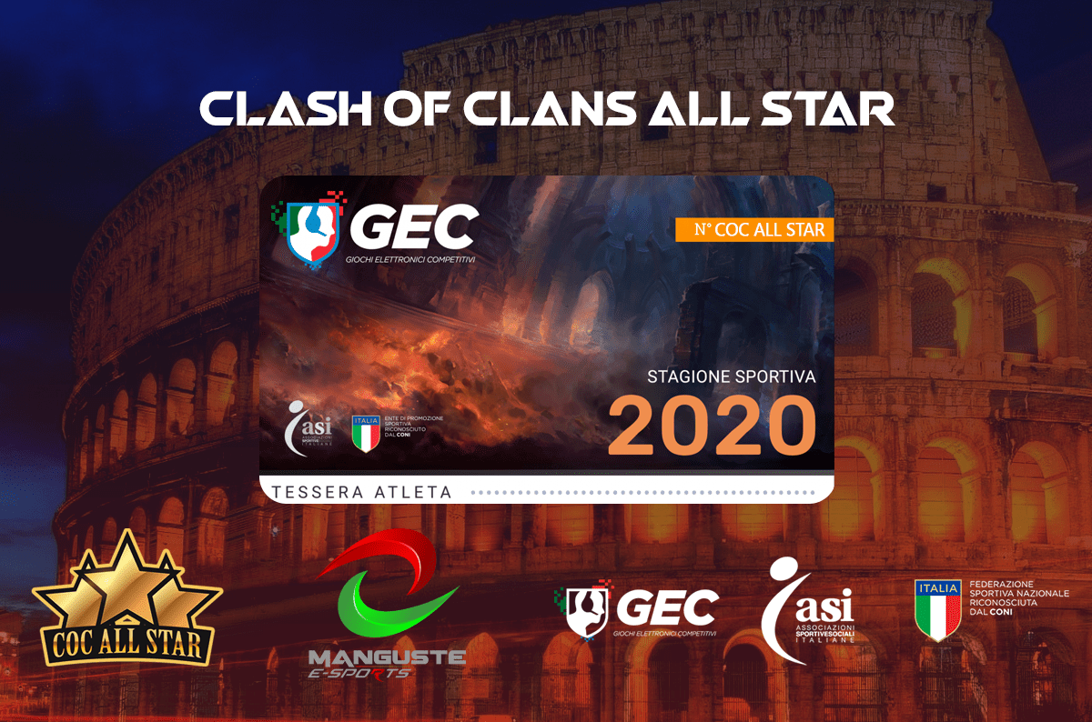 Aperto il tesseramento GEC con Clash of Clans All Star & Manguste eSport