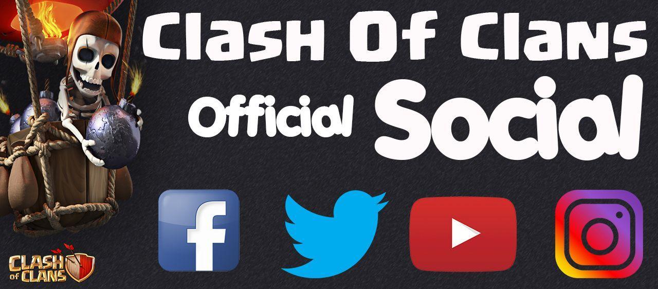 Segui i Social Ufficiali  in lingua italiana di Clash of Clans