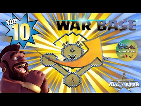 TOP 10 TH13 War Base With Copy Link – BEST Anti 3 Star TH13 Base – Clash of Clans