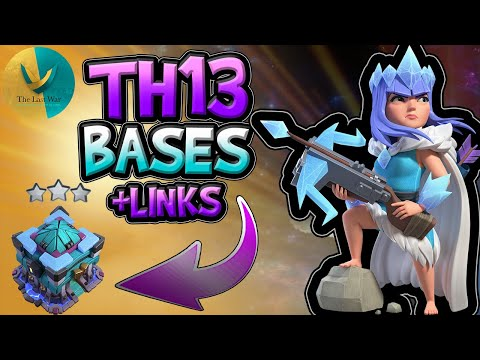 TOP 10 TOWN HALL 13 WAR BASES WITH LINKS -Best TH13 CWL WAR BASE -TH13 Trophy Base With Base Layouts