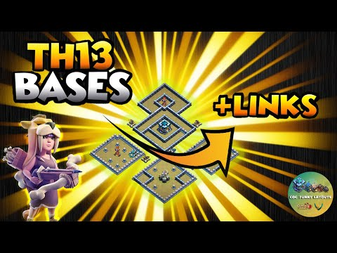 Top 10 TH13 WAR BASES/CWL + LINKS 2020 May Best Town Hall 13 War Base Th13 Clash of Clash