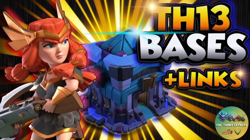 TOP 10 TH13 Upgrade War Base With Copy Link – BEST Anti 3 Star TH13 Base Clash of Clans