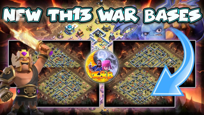 New Top 12 Th13 War Base + Link // Legend Attack of my Girlfriend // Clash of Clans
