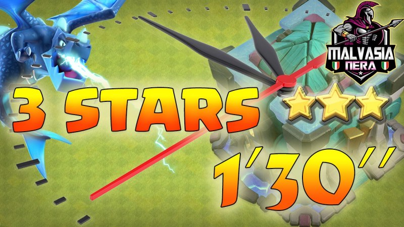 3 STARS on 1:30!!! New Electro Zap Attack Th13 E-drag Attack