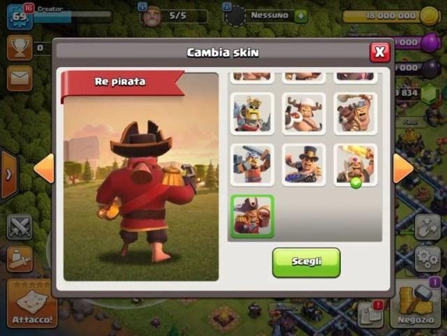 photo 2020 10 29 11 59 51 - Skin di Novembre su Clash of Clans: ecco il Re Pirata!