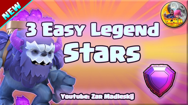 3 Easy Stars Legend League with Yetismash // Clash of Clans Th13 Attack