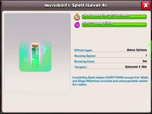 INVISIBILITA 1024x772 - Aggiornamento Clash of Clans, Sneak Peek #2: Incantesimo Invisibilità