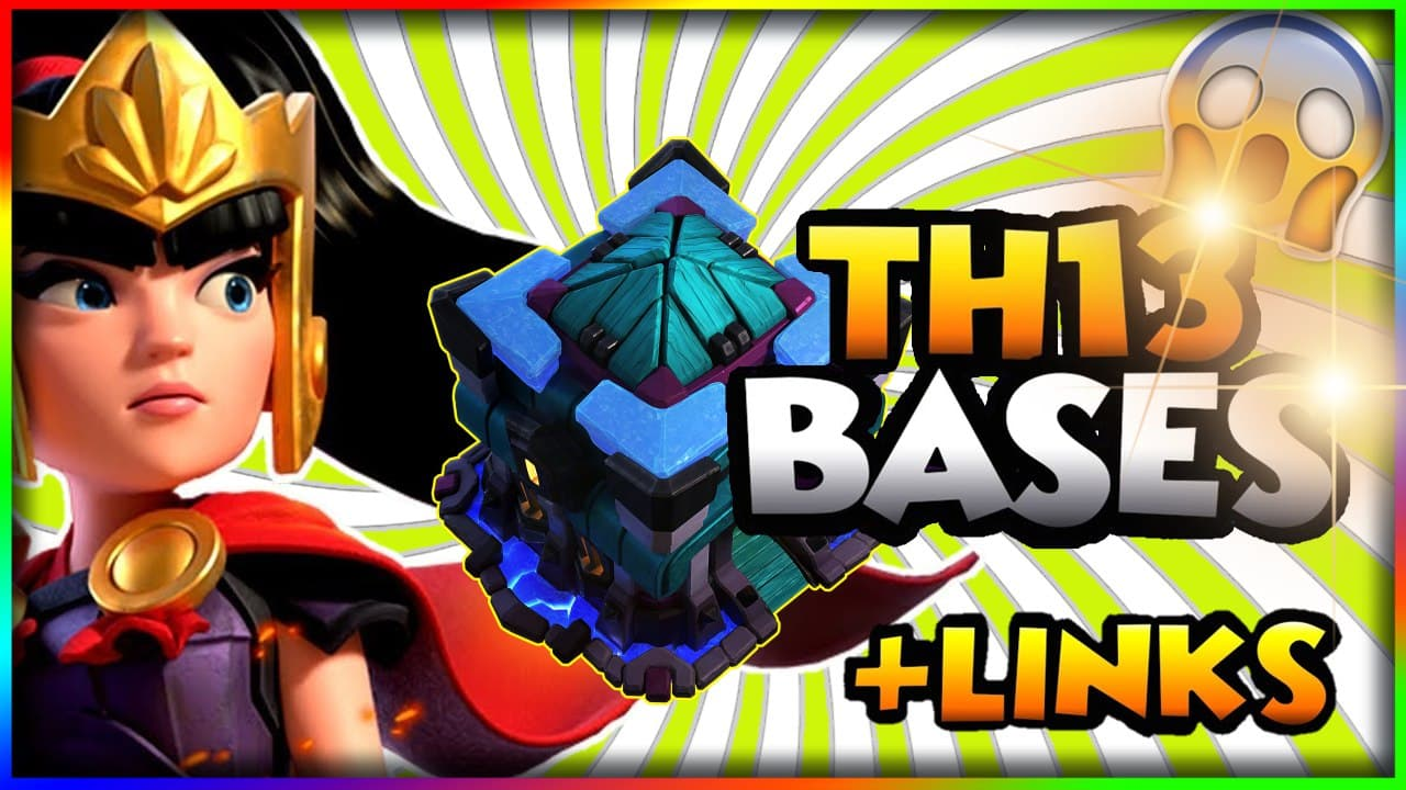 TOP 8 TH13 WAR BASES/CWL + LINKS 2021  Best Town Hall 13 War Base Clash of Clans