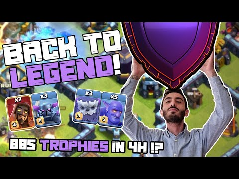 885 Trofei in 4H | MonkTV | Clash of Clans