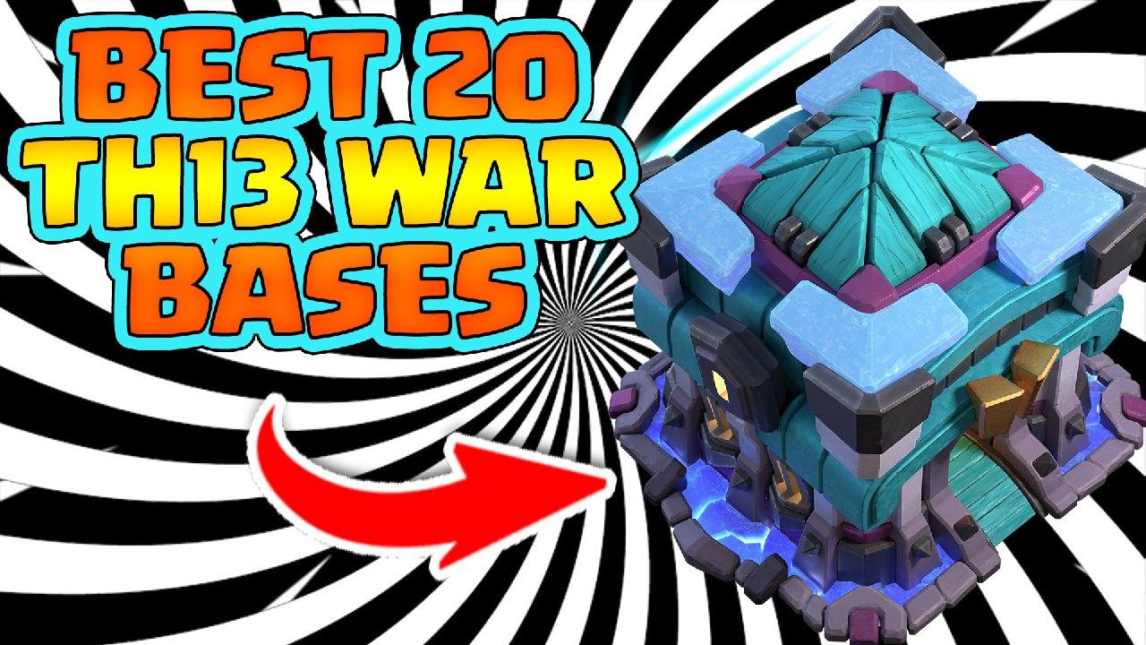 Top 20 Th13 War Bases from world championship clan team NOVA