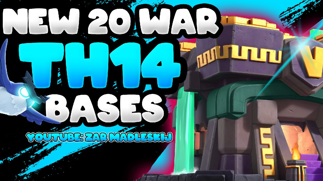 NEW 20 TH14 WAR BASE WITH LINK – Coc BEST TOWN HALL 14 CLAN WAR