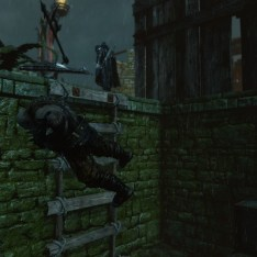 Walking away from Uruk Captain thrown over a ledge