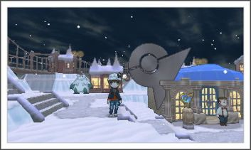 Snow, and a gym, and me, and some stars, and a house and a path and...
