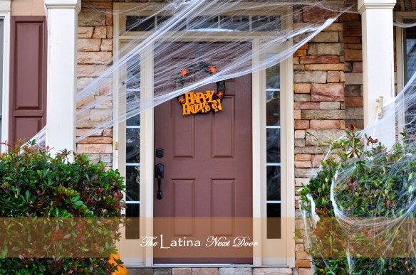 Halloween Front Door 1024x680 Decorating for Halloween on a Budget