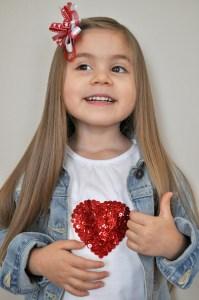 %name DIY Sequin Heart T shirt