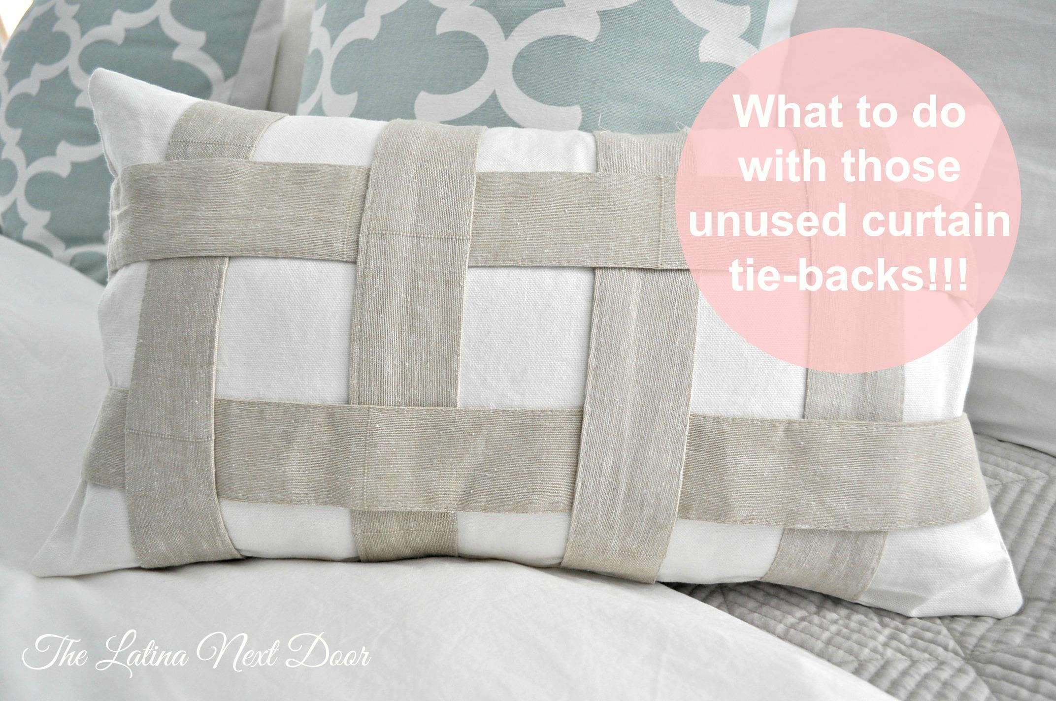 Tie Back Pillow Pin Repurpose those unused curtain tie backs