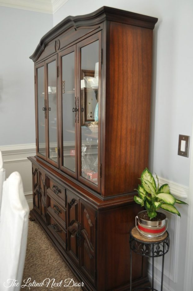 China Cabinet After 680x1024 China Cabinet Transformation and Dining Room Update