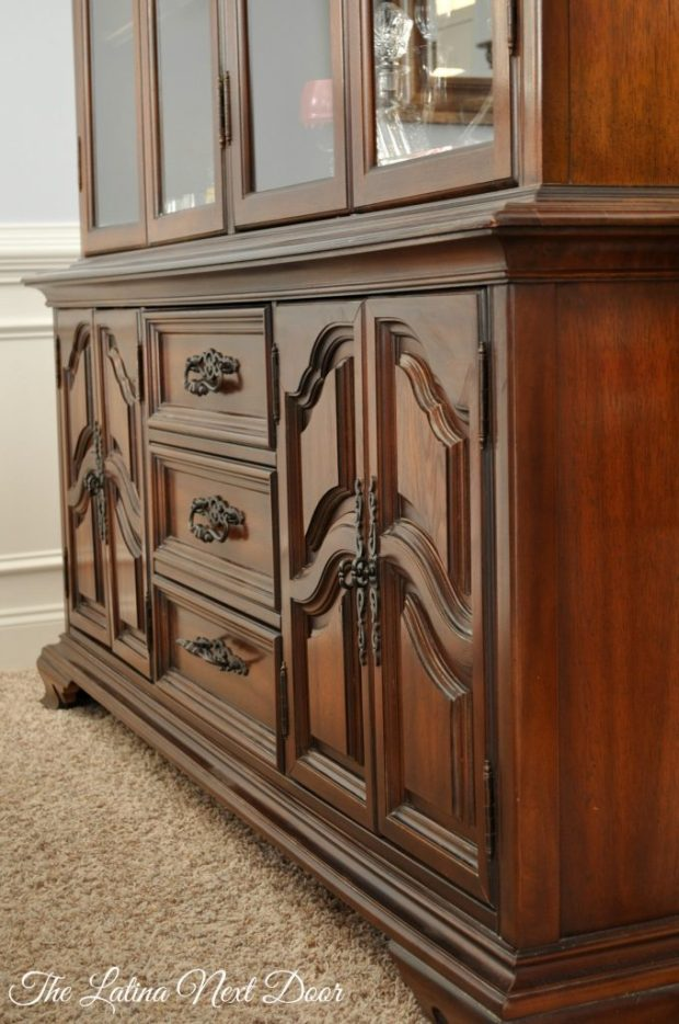 China Cabinet After Bottom 680x1024 China Cabinet Transformation and Dining Room Update