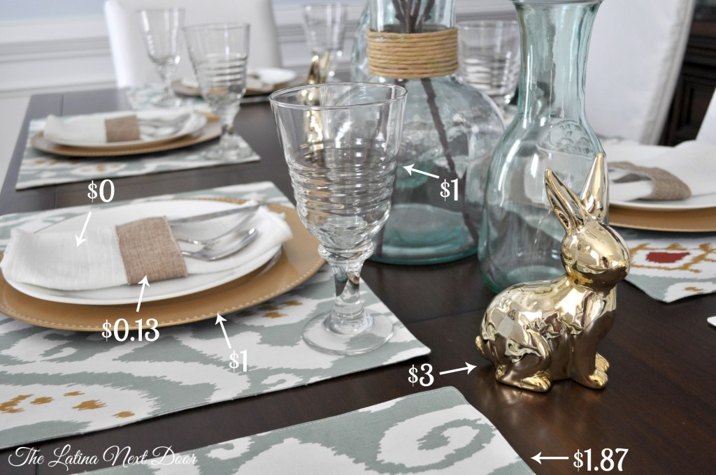 Easter Setting Breakdown 1024x680 Setting an Easter Table on a Budget