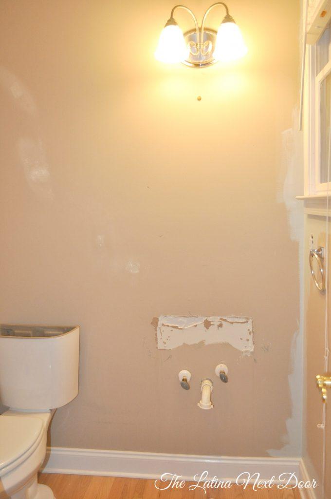 Powder Bath BEFORE 3 680x1024 Powder Bathroom Remodel