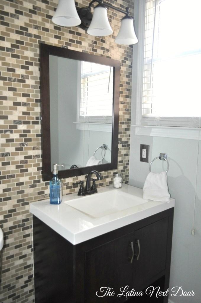 Powder Bathroom Reveal  680x1024 Powder Bathroom Reveal