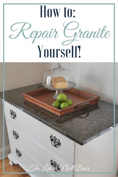 how to repair granite