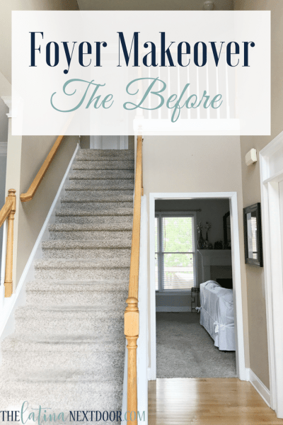 Foyer Makeover Before