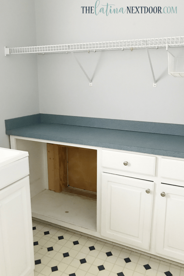 Laundry Room Before 2 How to Paint Linoleum Floors