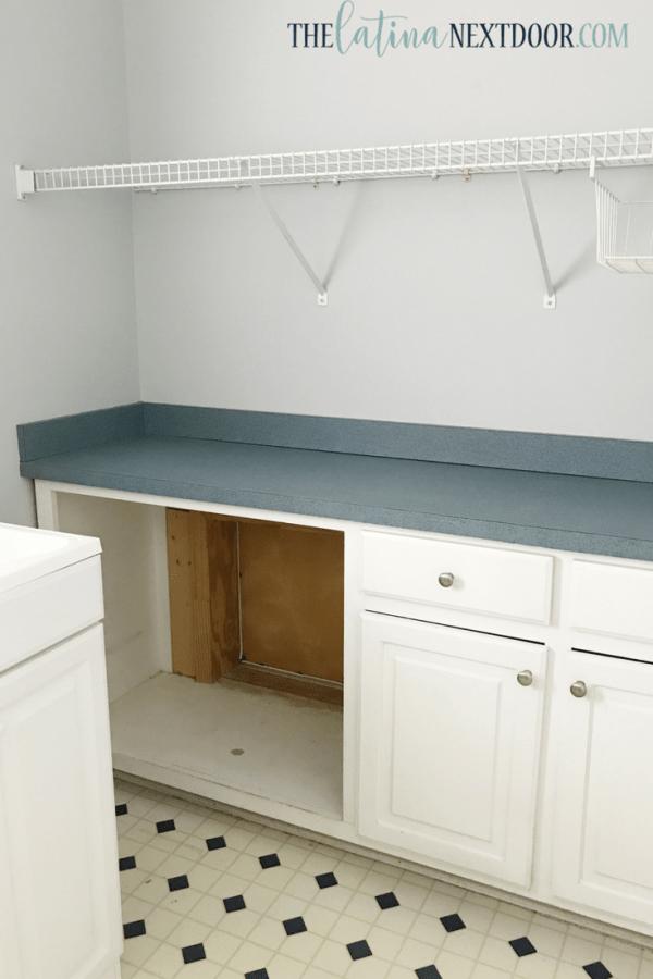 Laundry Room Before 2 How to Paint Linoleum Floors