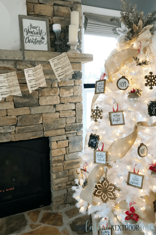 4 9 White Rustic Christmas Tree