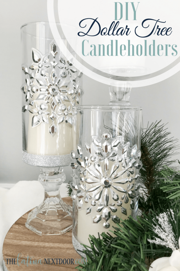 Dollar Tree Christmas Candleholders The Latina Next Door