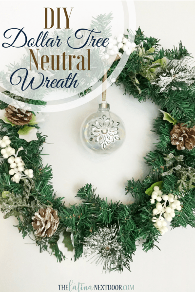DIY Dollar Tree Christmas Wreath