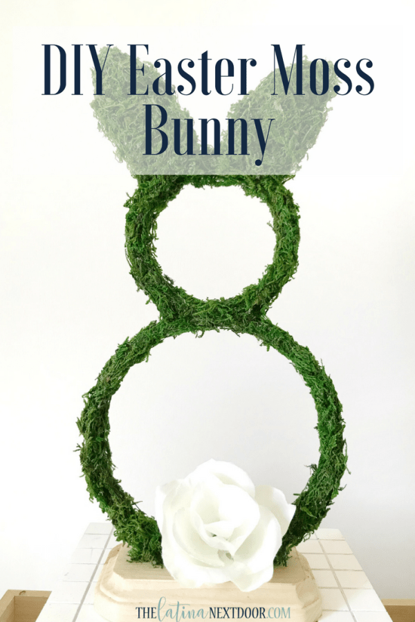 DIY Easter Moss Bunny pin DIY Easter Moss Bunny
