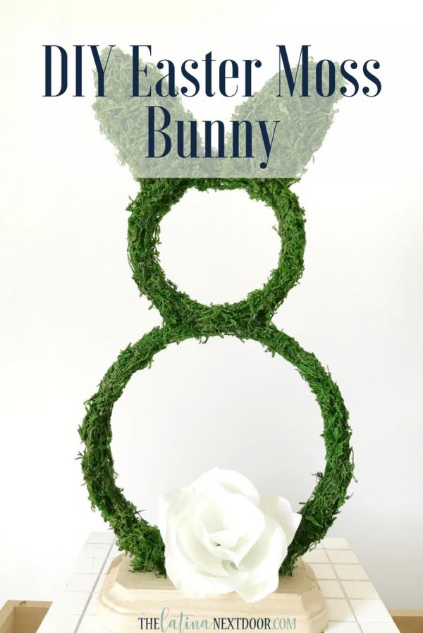DIY Easter Moss Bunny pin DIY Easter Moss Bunny