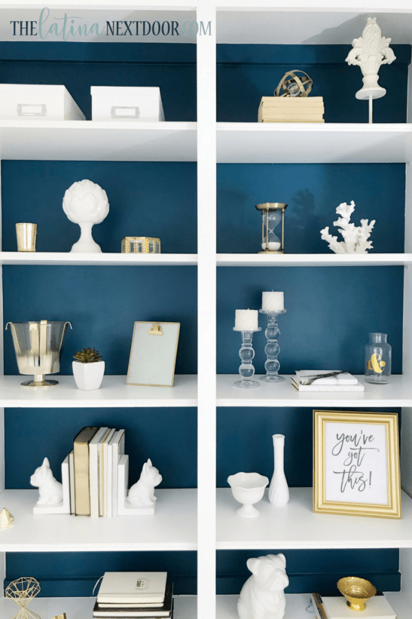 SW Color of the Year Oceanside 13 Sherwin Williams Color of the Year Oceanside Bookshelves