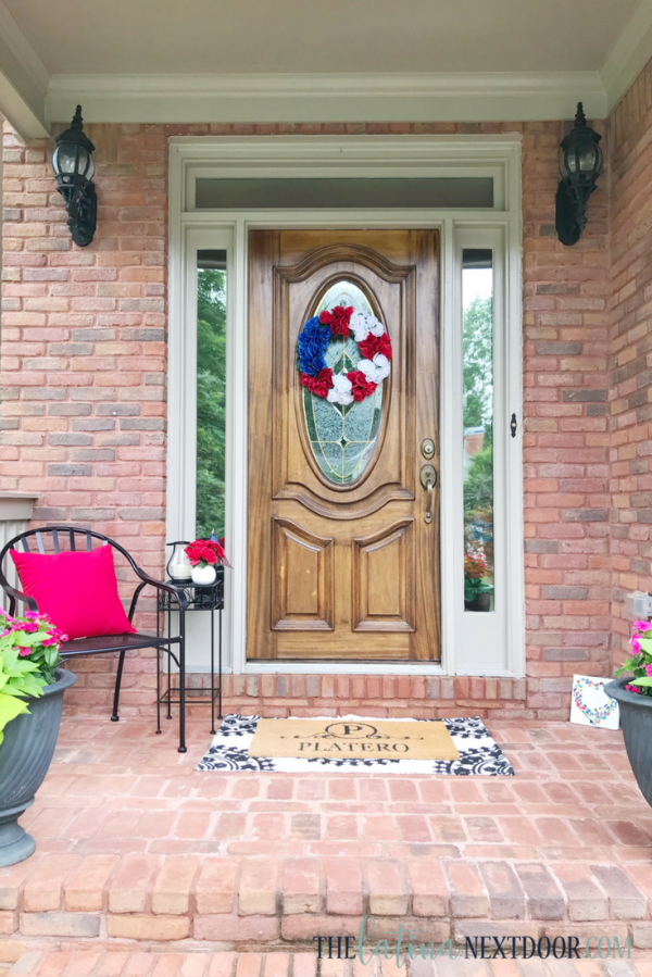 DIY Patriotic Wreath Front Porch Decor 4 DIY Patriotic Wreath & Front Porch Decor