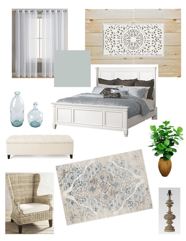 Coastal Master Mood Board Coastal Farmhouse Master Bedroom Update