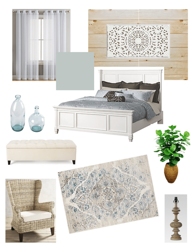 Coastal Master Mood Board Coastal Farmhouse Master Bedroom